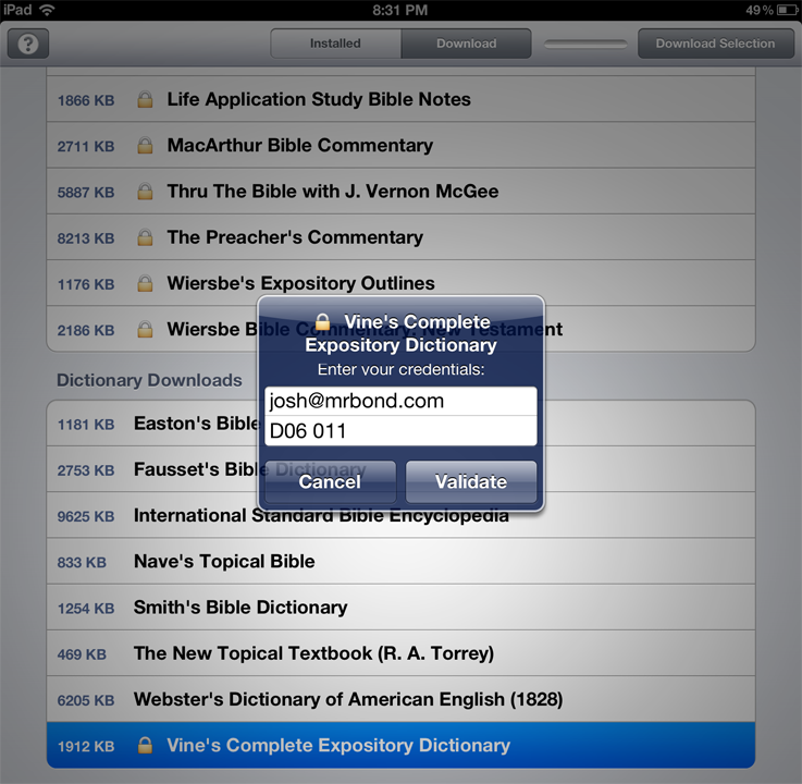 e-Sword HD for the iPad - News - Latest e-Sword Downloads